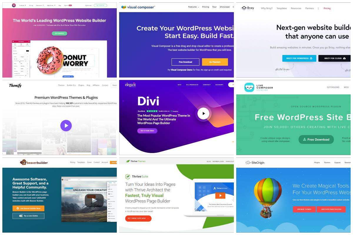 10 Best Drag and Drop Page Builders for WordPress in 2021