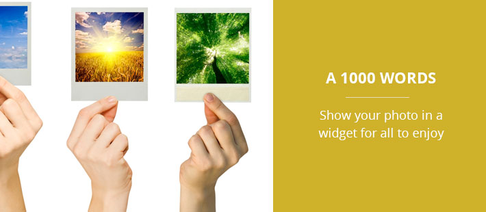 How to add an image to your web page with a widget