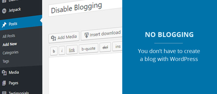 Using WordPress as a website without a blog