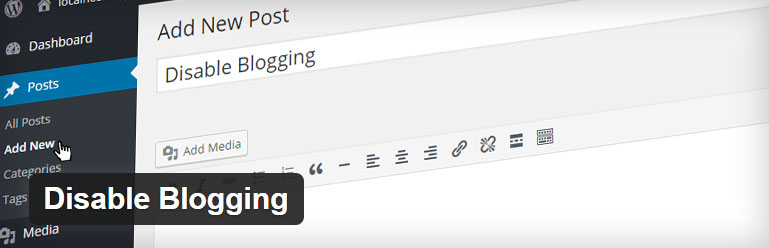 disable blogging plugin
