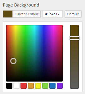 colour selector window