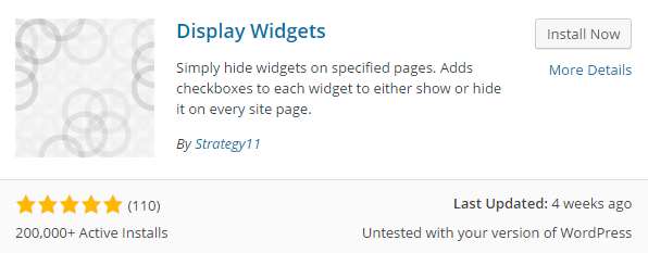 search display widgets