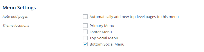 social menu location