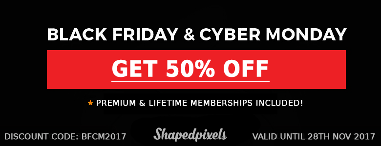 Black Friday & Cyber Monday 50% Off Promotion
