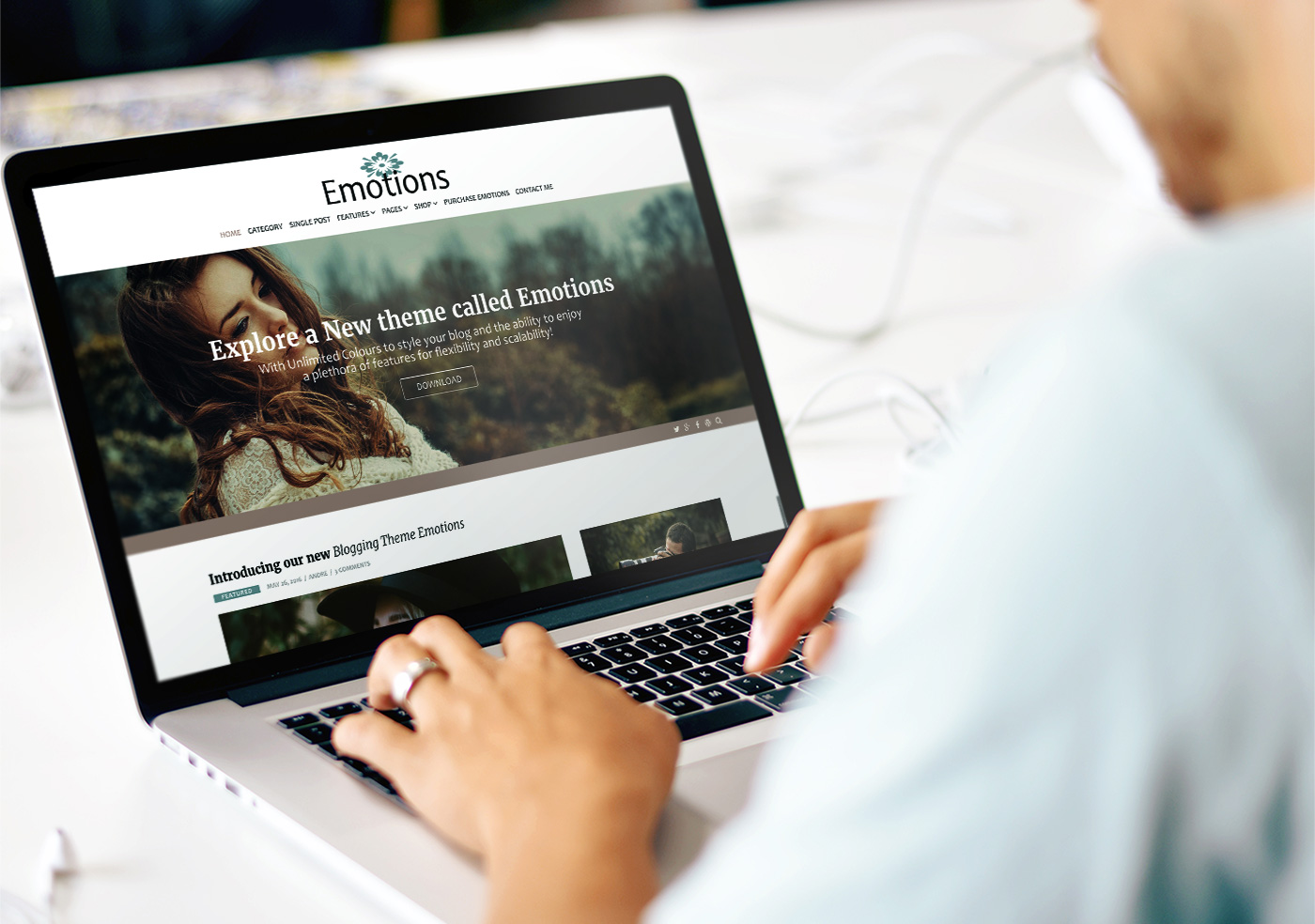 Emotions - A theme quality theme for blogging or business