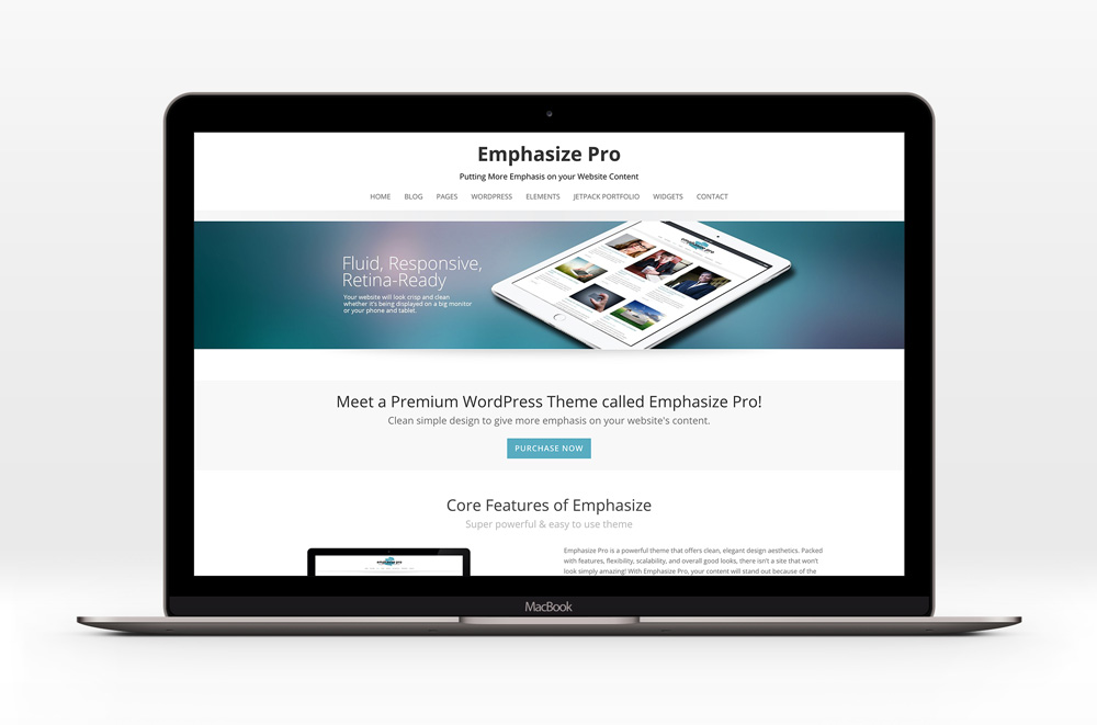Emphasize - A clean, elegant WordPress theme