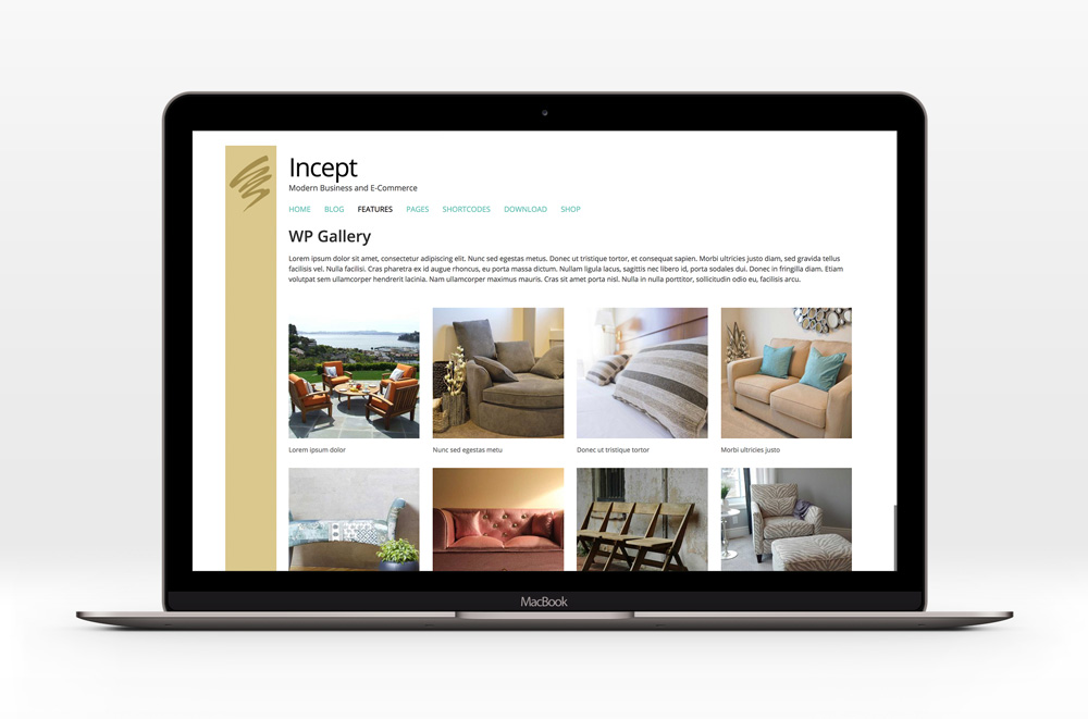 Incept - WooCommerce shop based theme