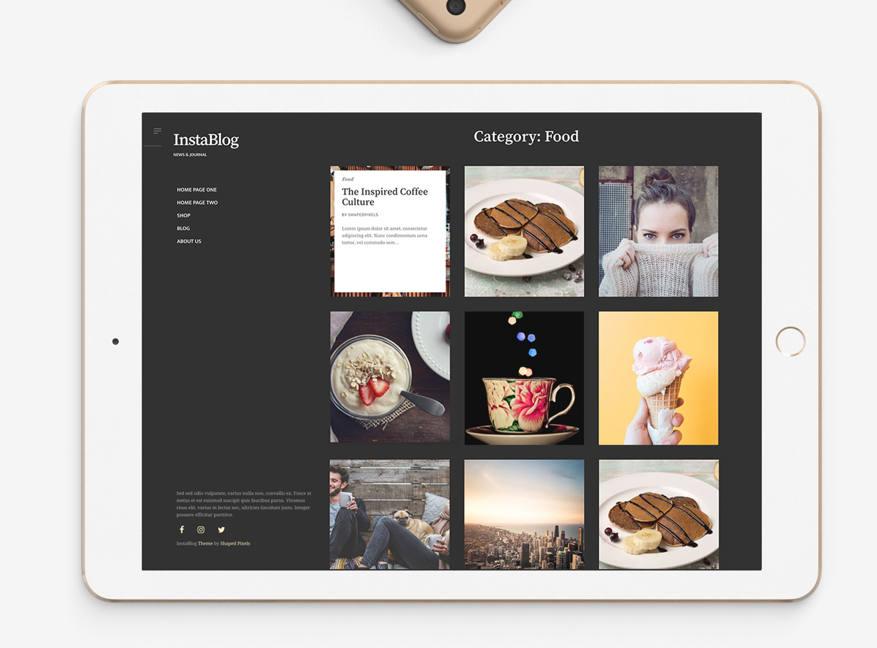 Instablog - A theme quality theme for blogging or business