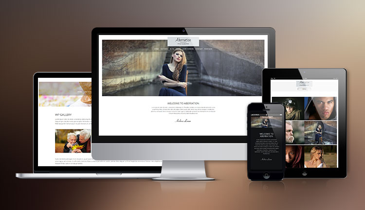 Abberation Photo Blogging WordPress Theme