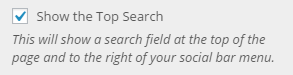 top search setting