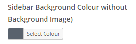 sidebar colour setting