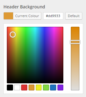 header colour selector