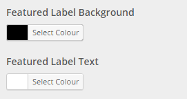featured label colour setting