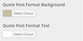 quote colour settings