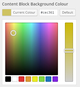content block colour selector