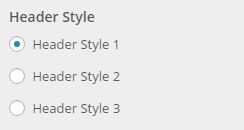 header style setting