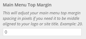 menu top margin setting