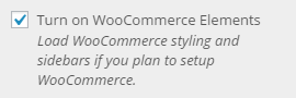 woocommerce setting on