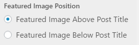 featured image position