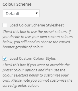 load custom colour setting
