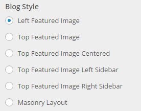 blog style options