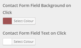 contact form colour settings