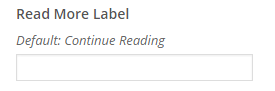 readmore label setting