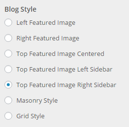 blog styles setting