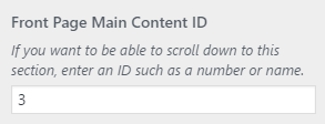 fp setting main id
