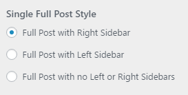 setting full post style